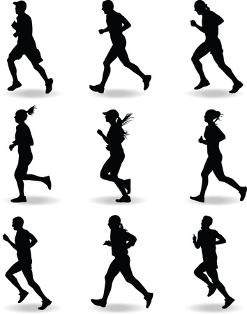 runner silhouette vector Illustration