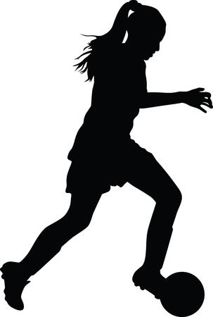 joueur de soccer de femme