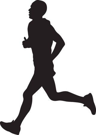 Biegacz sylwetka wektor Ilustracje wektorowe