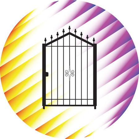 plotting: gate silhouette vector Illustration