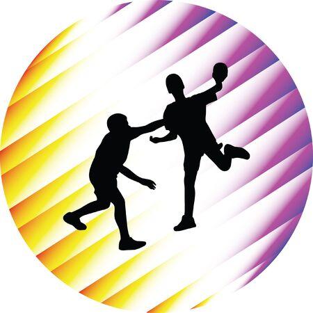 jump shot: handball player