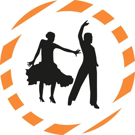 person silhouette: dance people