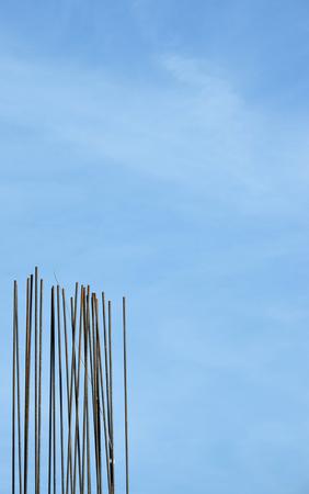 armature: wire armature for building