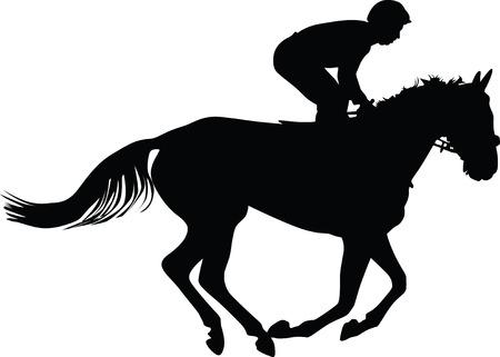 jockey: horse and jockey