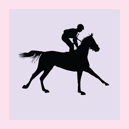 hippodrome: horse and jockey