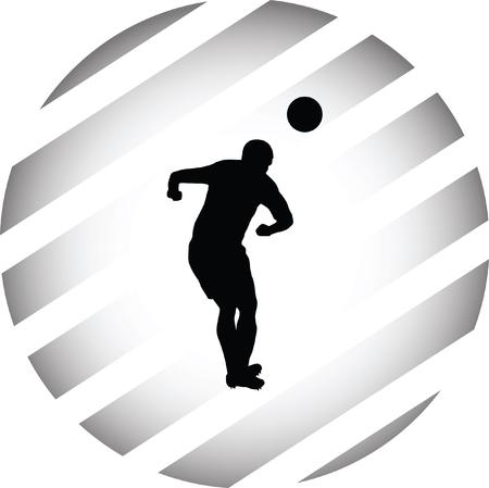 soccer player Vektorové ilustrace