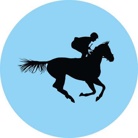 horse and jockey silhouette illustration. Illustration