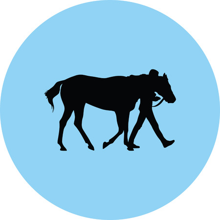 horse silhouette illustration.