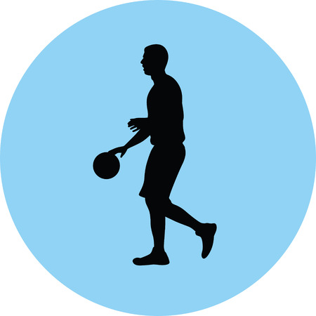 basketball player silhouette illustration.