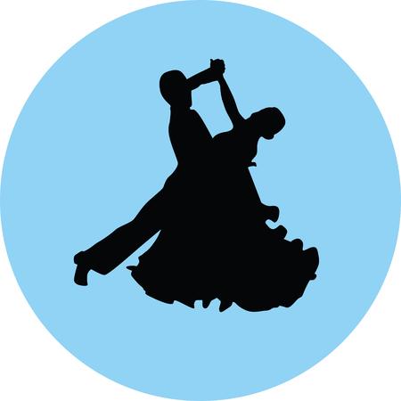 dance people silhouette illustration. Illustration