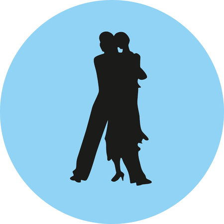 dance people silhouette illustration. Illustration