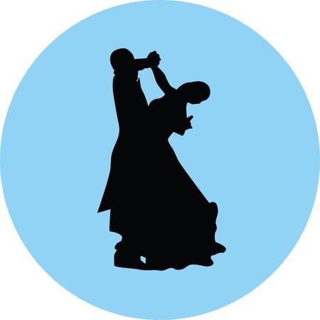 Dancing people icon. Illustration