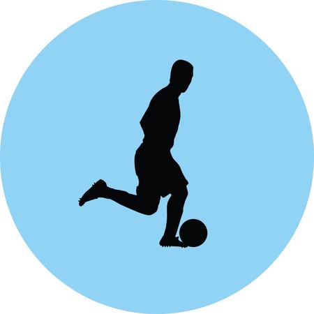 soccer player silhouette illustration. Illustration