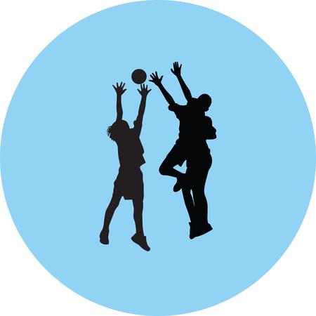 Handball players icon.