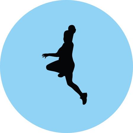 handball player silhouette illustration.