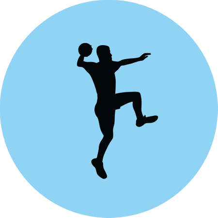 handball player silhouette illustration.