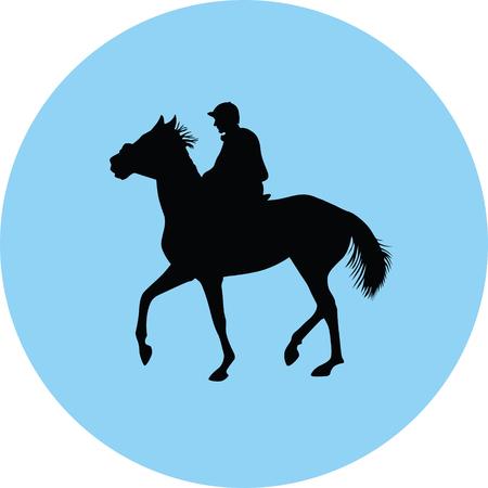 horse silhouette illustration.