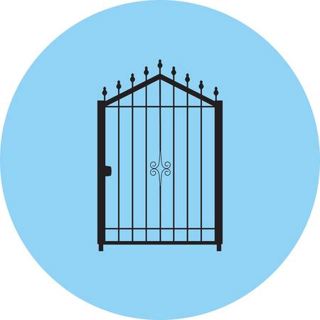 Gate silhouette vector.
