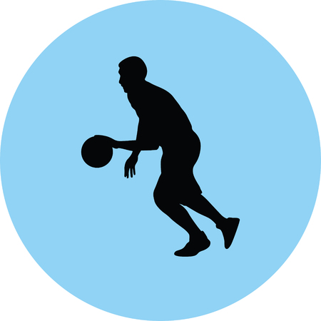 basketball player Vector illustration.