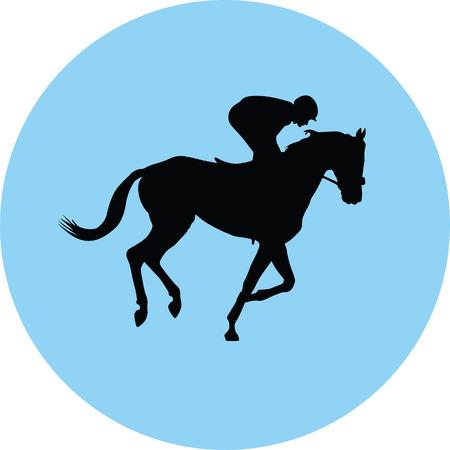 horse and jockey Vector illustration.