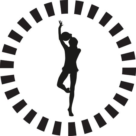 rhythmic gymnastics Vektorové ilustrace