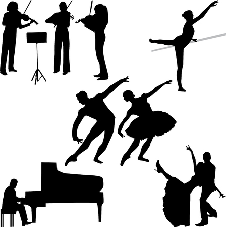 Music silhouette vector