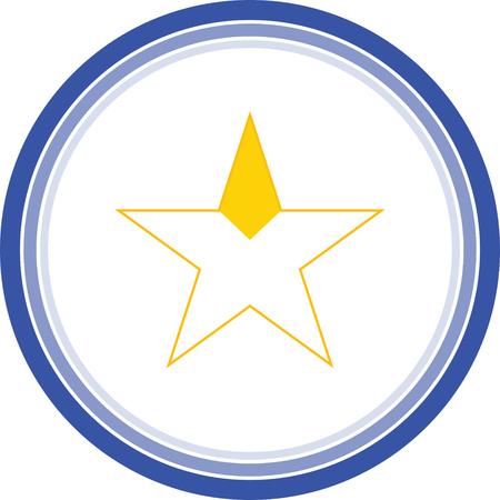 gold start favourite icon Illustration