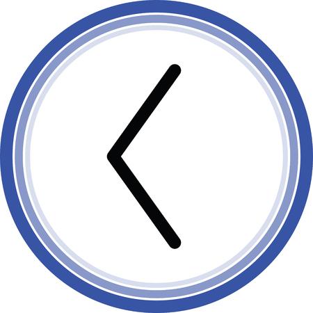left arrow web icon Illustration