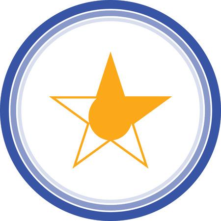 yellow star web icon stock vectors Illustration