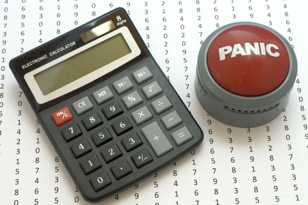 Numbers and calculator and panic button