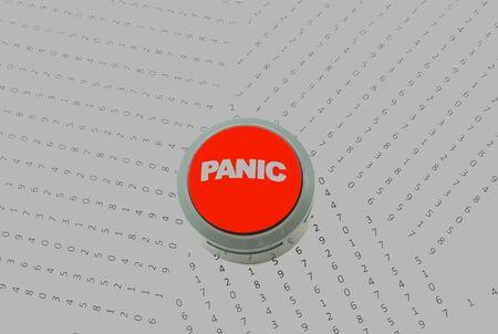 panic button: Bright Panic Button in numeri Archivio Fotografico