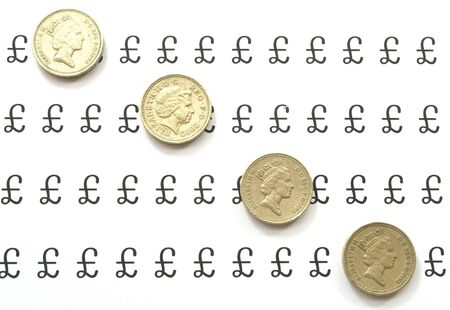 Coins in diagonal line Stock Photo - 8217919