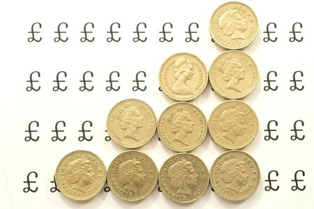 Coins in ascending columns Stock Photo - 8217920