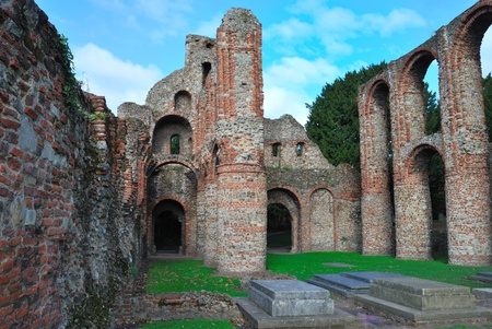 Ruins of Colchester Priory Esex