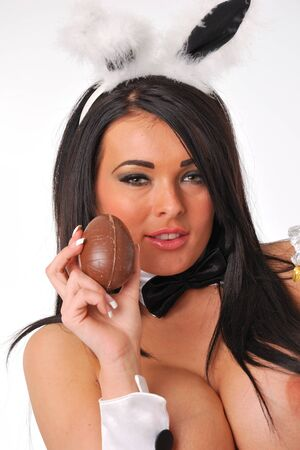 Bunny girl with easter egg Stock Photo - 12937550