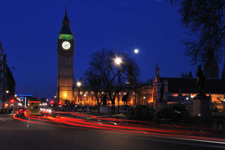 Houses of parliament by night photo