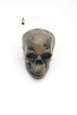 skull with ace of spades Stock Photo - 13311726