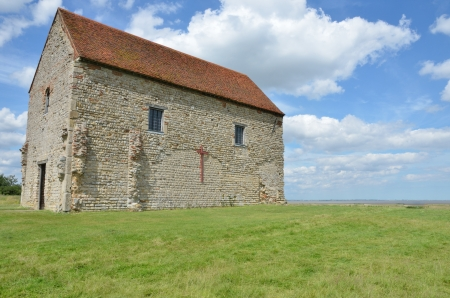 english countryside: Ancient simple stone church