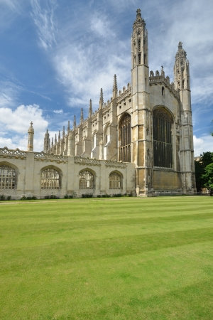 cambridge: Front of kings college Cambridge Editorial