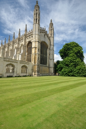 Kings college Cambridge from front in Portait