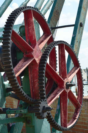 Large metal cog wheels photo