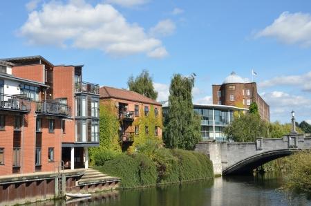 riverside landscape: Modern Riverside buildings