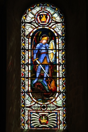 Stained Glass Window in Norwich Cathedral photo