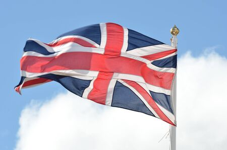 Union Flag flying in breeze photo