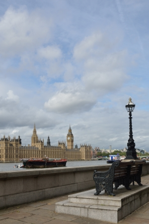 london embankment with parliament photo