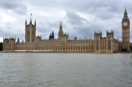 Houses of Parliament with Thames in foreground Stock Photo - 15542417