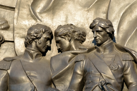 Bronze Relief at Base of Nelsons Column photo