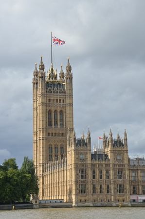 Westminster Tower with flag photo