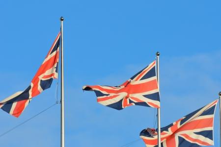 three union flags flying photo