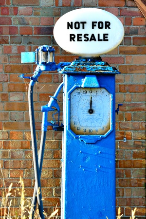 old petrol pump photo
